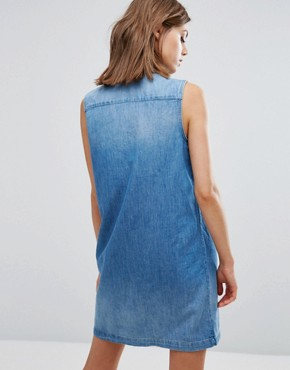 photo Tab 70s Western Denim Dress by Levis Orange, color Lithium Blue - Image 2