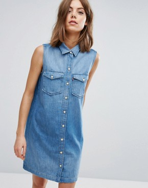photo Tab 70s Western Denim Dress by Levis Orange, color Lithium Blue - Image 1