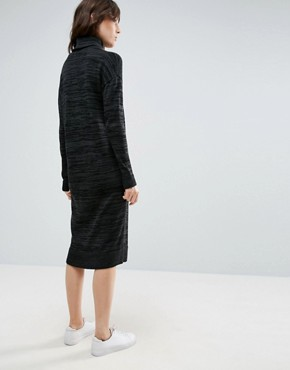 photo Knitted Dress With High Neck by ASOS, color Charcoal - Image 2