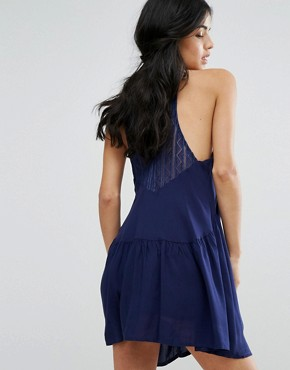 photo Skater Dress by Kiss The Sky, color Navy - Image 2