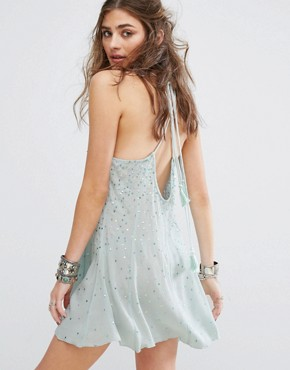photo Just Watch Me Slip Dress by Free People, color Blue - Image 2