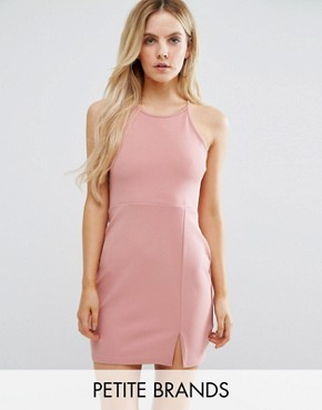 photo Side Split Mini Dress by Missguided Petite, color Rose - Image 1
