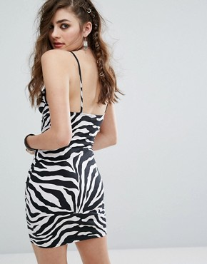photo Underwired Bodycon Dress In Zebra by Motel, color  - Image 2