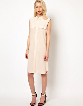 photo Jen Shirt Dress with Open Back by AQ/AQ, color Cream - Image 1