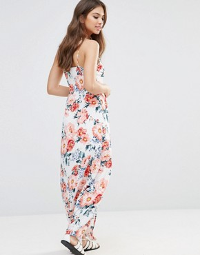 photo Little Blooms Wrap Front Maxi Dress by MinkPink, color Multi - Image 2
