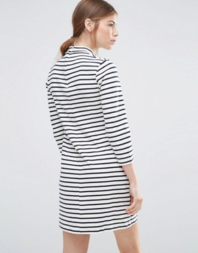 photo Striped Mary Dress by Wood Wood, color Off White/Navy - Image 2