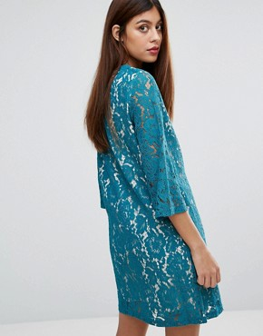 photo Ariana Lace Tunic Dress by Darling, color Teal - Image 2