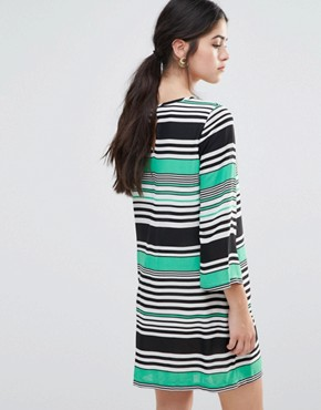 photo Shift Dress in Stripe by Traffic People, color Green - Image 2