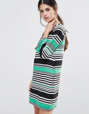 photo Shift Dress in Stripe by Traffic People, color Green - Image 1