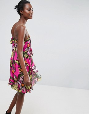 photo Ruffle Cami Dress in Tropical Floral Print by ASOS Made in Kenya, color Tropical Floral - Image 2