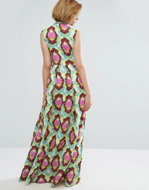 photo Heart Cloud Crepe Maxi Dress by House of Holland, color White - Image 2