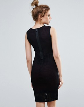 photo Mercedes Mesh Bodycon Dress by John & Jenn, color Blackberry - Image 2