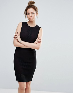 photo Mercedes Mesh Bodycon Dress by John & Jenn, color Blackberry - Image 1