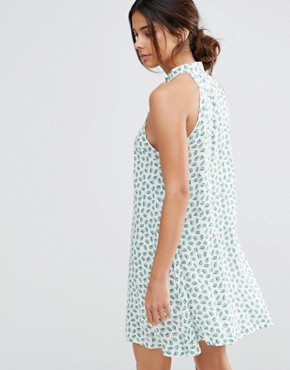 photo Kiwi Print Sun Dress by Native Youth, color White - Image 2