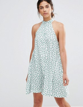photo Kiwi Print Sun Dress by Native Youth, color White - Image 1