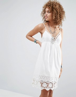photo Nati Crochet Dress by Pepe Jeans, color White - Image 1