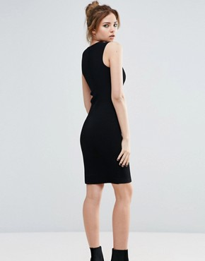 photo Spencer Ribbed Dress with Front Zip by John & Jenn, color Black - Image 2