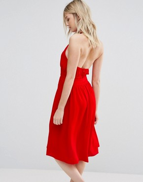 photo Arnie Tie Waist Dress by d.RA, color Poppy - Image 2