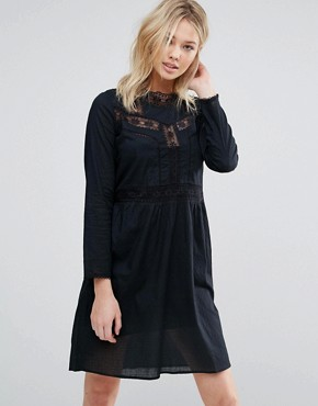 photo Farrah Embroidered Smock Dress by d.RA, color Black - Image 1