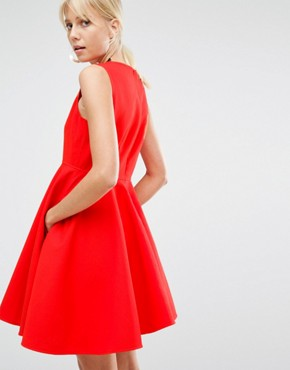 photo Lauto Skater Dress by Sportmax Code, color Red - Image 2