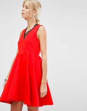 photo Lauto Skater Dress by Sportmax Code, color Red - Image 1