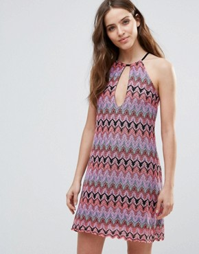 photo Halterneck Shift Dress by Love & Other Things, color Multi - Image 1