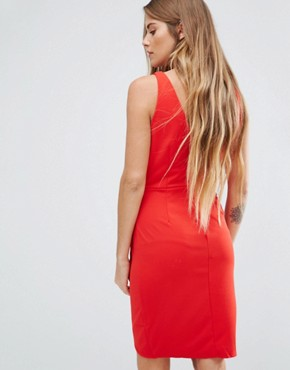 photo Drape Front Dress by Wal G, color Red - Image 2