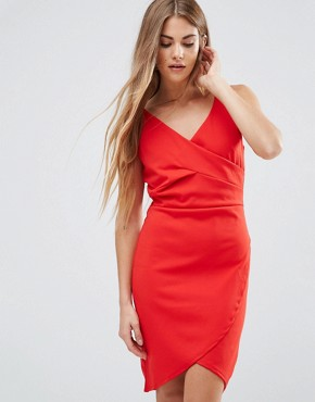 photo Drape Front Dress by Wal G, color Red - Image 1