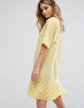 photo Gingham Yellow Dress by PS by Paul Smith, color Yellow - Image 2