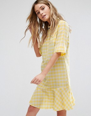photo Gingham Yellow Dress by PS by Paul Smith, color Yellow - Image 1