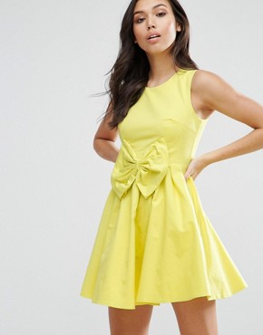 photo Bow Dress by Madam Rage, color Yellow - Image 1