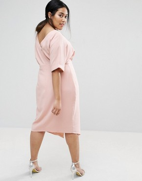 photo Smart Midi Dress by ASOS CURVE, color Nude - Image 2