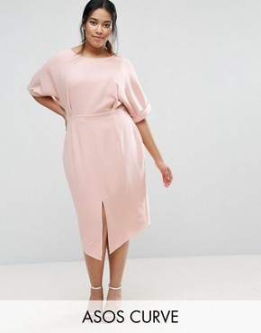 photo Smart Midi Dress by ASOS CURVE, color Nude - Image 1