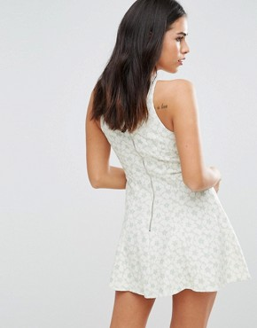 photo Floral Skater Dress by Traffic People, color Green - Image 2