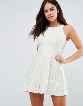 photo Floral Skater Dress by Traffic People, color Green - Image 1