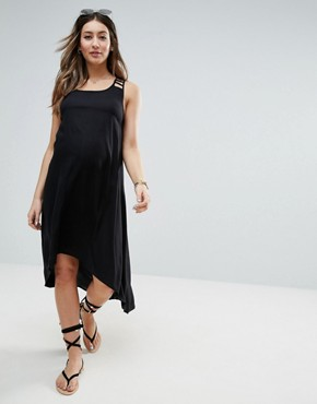 photo Strap Back Midi Dress by ASOS Maternity, color Black - Image 2