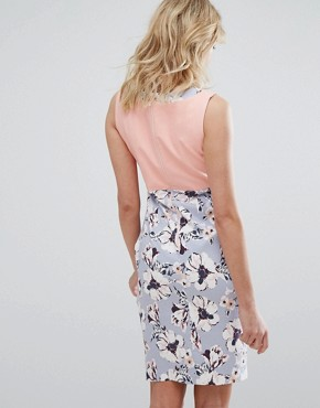 photo Floral Pencil Dress with Contrast Body by Vesper, color Brittany - Image 2