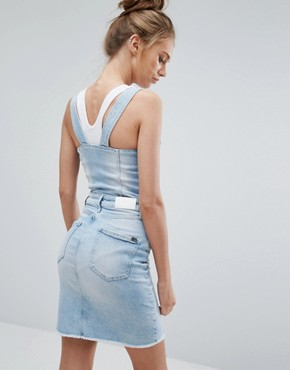 photo Dungaree Dress by Calvin Klein Jeans, color Coast Blue - Image 2