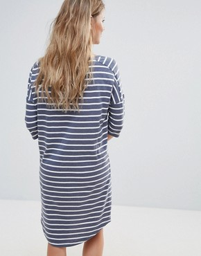 photo Henry Striped Tee Dress by Blend She, color Peacoat Mel - Image 2