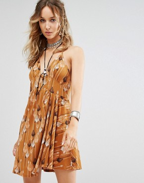 photo Tropical Daydream Print Dress by Free People, color Orange Combo - Image 1