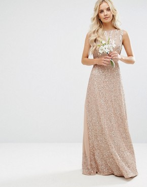 photo Embellished Maxi Dress with Bow Back by Maya Petite, color Mink - Image 2