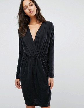 photo V-Neck Dress by Samsoe & Samsoe, color Black - Image 1