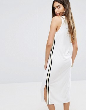 photo Black Label Trk Microterry Tank Dress with Racer Stripe by Juicy Couture, color White - Image 2