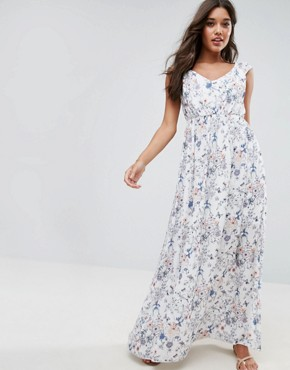 photo Ditsy Floral Maxi Dress by Vila, color Print - Image 1