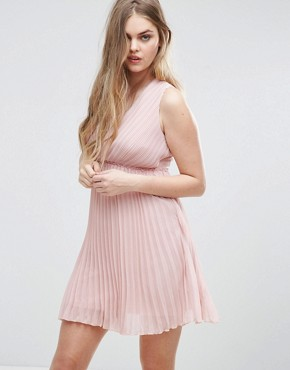 photo Pleated Dress with Cut Out Back by Vila, color Pale Mauve - Image 2
