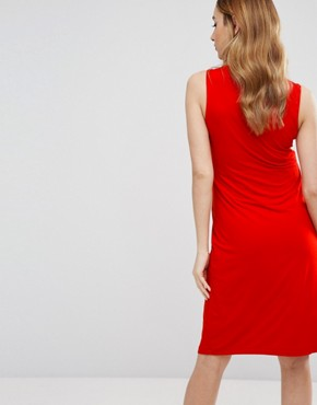 photo Sleeveless Midi Dress by Isabella Oliver, color Red - Image 2