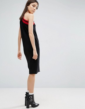 photo Mix One Shoulder Dress by Cheap Monday, color Black - Image 2