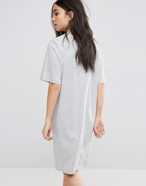 photo Thin Box Logo Smash T-Shirt Dress by Cheap Monday, color Sport Melange - Image 2