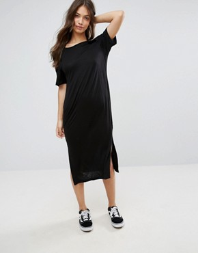 photo Halter Neck Strap Sway Midi Dress by Cheap Monday, color Black - Image 1