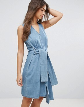photo Rizzle Asymmetric Dress by Cheap Monday, color Fans Blue - Image 1